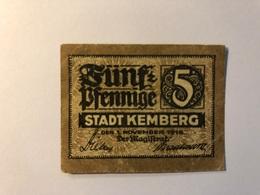 Allemagne Notgeld Allemagne Kemberg 5 Pfennig - [ 3] 1918-1933 : République De Weimar