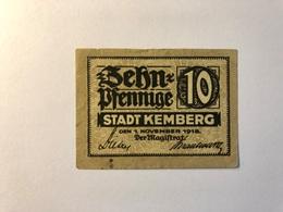 Allemagne Notgeld Allemagne Kemberg 10 Pfennig - [ 3] 1918-1933 : République De Weimar