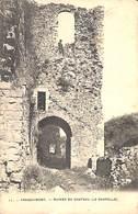 Franchimont - Ruines Du Château (la Chapelle) Animée, 1906, Photo Bertels - Theux