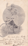 CPA Femme Sur Sa Bicyclette Vélo Cyclisme Cycliste Cycling Radsport Style Viennoise D.H.C. N° 1451 (2 Scans) - Cyclisme