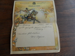 ANCIENNE FEUILLE TELEGR. / FIANCAILLES / FAM.  GARNIR  / SERAING 1943 - Stamped Stationery