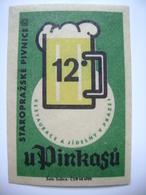 "Czechoslovakia  Matchbox Label 1964 - ""U Pinkasu"" - Old Prague Pub Beerhouse Bierstube Brasserie - Matchbox Labels"