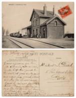 Ercuis 60 - La Gare Avec Train à L'arrivée - Otros Municipios