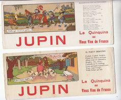 VINS  LOT 2 BUVARDS QUINQUINA - Buvards, Protège-cahiers Illustrés