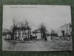ENGHIEN - PLACE DU VIEUX MARCHÉ 1918 ( 2 Scans ) - Edingen