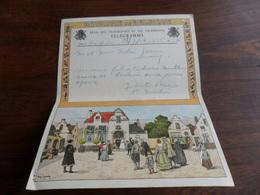 ANCIENNE FEUILLE TELEGR. /  MARIAGE  / FAM.  NOBEN - GARNIR   / SERAING 1946 - Stamped Stationery