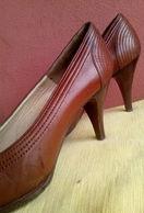 SCARPE DECOLTE' - MADE ITALY - PELLE - MISURA 36 - VINTAGE FINE ANNI 70 - Chaussures