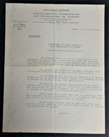 Circulaire CROIX-ROUGE COMITE D'ASSISTANCE AUX PRISONNIERS DE GUERRE Jonzac COLIS Homme De Confiance Oct 1943 - Guerre De 1939-45