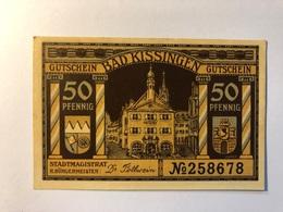 Allemagne Notgeld Allemagne Kissingen 50 Pfennig - [ 3] 1918-1933 : République De Weimar