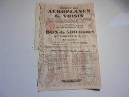 Aéroplanes G. VOISIN (issy Les Moulineaux) - Non Classés