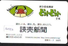 Carte Prépayée Japon * MANGA * STUDIO GHIBLI (16.552) COMIC * ANIME Japan Prepaid Card * CINEMA * FILM - BD