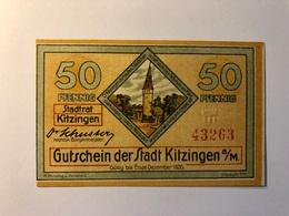 Allemagne Notgeld Allemagne Kitzingen 50 Pfennig - [ 3] 1918-1933 : République De Weimar