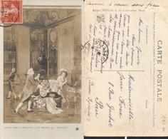 CPA - SALON 1909 - UN BAISER QUI S'ENVOLE - MUSIQUE INSTRUMENT DE MUSIQUE PIANO - Théâtre