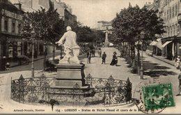 56 LORIENT  STATUE DE VICTOR MASSE ET COURS DE LA BOVE - Lorient