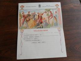 ANCIENNE FEUILLE TELEGR. /  MARIAGE  / FAM.  GABRIEL    /  LIEGE 1960 - Stamped Stationery