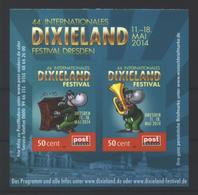 Deutschland PostModern Block '44. Int. Dixieland-Festival' / Germany M/s '44th Int. Dixieland Festival' **/MNH 2014 - Musik