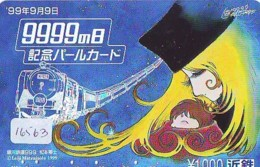 Carte Prépayée Japon * MANGA * GALAXY EXPRESS * (16.563) COMIC * ANIME Japan Prepaid Card * CINEMA * FILM - BD