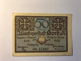 Allemagne Notgeld Allemagne Korb 50 Pfennig - [ 3] 1918-1933 : République De Weimar