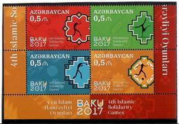 Azerbaijan. 2017 Islamic Solidarity Games. Block Of 4v X 0.50 Michel # 1196-99A - Azerbaïjan