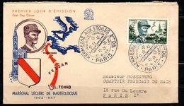 Leclerc 984 // Premier Jour FDC //  1 Carte // 12 Juin1954 - FDC