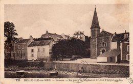 ! Belle Ile En Mer - Sauzon - La Place De L ' église Et L ' Hôtel D ' Arvor - Belle Ile En Mer