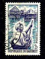 DAHOMEY 179° 2f Bleu Et Violet Jeune Piroguier à Ganvié (10% De La Cote + 015) - Benin - Dahomey (1960-...)