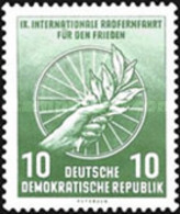 USED STAMPS OF DDR - The Peace Event Warsaw-Berlin-Prague-1956 - Oblitérés