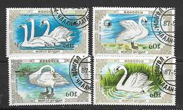 Mongolia  1987 Swans Used - Mongolie