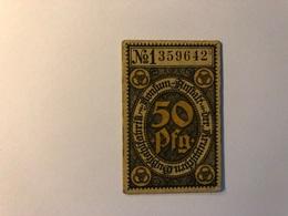 Allemagne Notgeld Allemagne Konsum 50 Pfennig - [ 3] 1918-1933 : République De Weimar