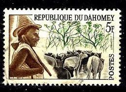 DAHOMEY 181° 5f Sépia, Vert Et Ocre Peuhl (10% De La Cote + 015) - Benin - Dahomey (1960-...)