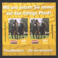 Deutschland PostModern Block 'Aufgalopp, Dresdner Renntage' / Germany M/s 'Dresden Horse Race' **/MNH 2009 - Horses