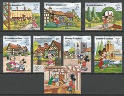 1990 Grenada Grenadines STAMPWORLD LONDON Set And Souvenir Sheets (** / MNH / UMM) - Disney