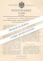 Original Patent - F. Wilhelm Quarg , Leipzig / Kleinzschocher , 1903 , Pinselvorband Aus Hülsen | Pinsel | Maler !!! - Historical Documents