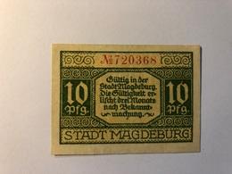 Allemagne Notgeld Allemagne Magdeburg 10 Pfennig - [ 3] 1918-1933 : République De Weimar