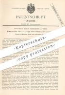 Original Patent - Friedrich Louis Herrmann , Wien , 1882 , Zimmerofen Für Gas O. Flüssigen Brennstoff | Ofen , Ofenbauer - Historical Documents