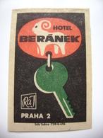 Czechoslovakia  Matchbox Label 1964 - Praha Prague - Hotel Beranek - Matchbox Labels