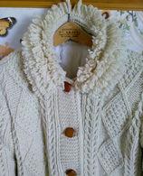 CAPPOTTO LAVORATO A MAGLIA - TRAPUNTATO - CUCITO A MANO - VINTAGE ANNI 80 - ARTIGIANALE - Vintage Clothes & Linen