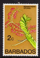 BARBADOS - 1976 2c ORCHID STAMP WMK W12 UPRIGHT FINE MNH ** SG 544 - Barbades (1966-...)