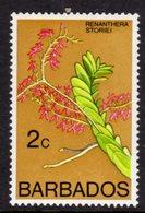 BARBADOS - 1976 2c ORCHID STAMP WMK W12 UPRIGHT FINE MNH ** SG 544 - Barbados (1966-...)