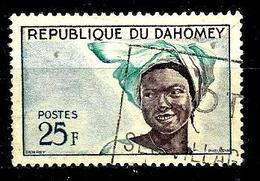 DAHOMEY 184° 25f Bleu, Bleu-vert Et Violet-brun Jeune Fille (10% De La Cote + 0154 - Bénin – Dahomey (1960-...)