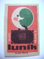 Czechoslovakia  Matchbox Label 1964 - Praha Prague - Hotel Lunik - Matchbox Labels