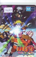 Carte Prépayée Japon * MANGA * NARUTO * (16.567) COMIC * ANIME Japan Prepaid Card * CINEMA * FILM - Comics