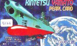 Carte Prépayée Japon * MANGA * GALAXY EXPRESS YAMATO * (16.566) COMIC * ANIME Japan Prepaid Card * CINEMA * FILM - BD