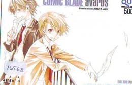 Carte Prépayée Japon * MANGA * COMIC BLADE AVARUS * (16.568) COMIC * ANIME Japan Prepaid Card * CINEMA * FILM - BD