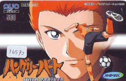 Carte Prépayée Japon * MANGA * WILD STRIKER * (16.572) COMIC * ANIME Japan Prepaid Card * CINEMA * FILM - BD