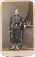 CDV : Portrait De M.Francais Sergent Au 76e De Ligne, Par Delzor à Verdun - Shako - Guerra, Militari