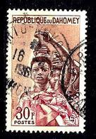 DAHOMEY 185° 30f Orange, Violet-brun Et Carmin Féticheur Et Son Python (10% De La Cote + 0154 - Benin - Dahomey (1960-...)