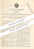 Original Patent - Fritz W. Lürmann , Osnabrück , 1881 , Gasofen   Ofen Für Stahl , Eisen , Glas , Chemie   Feuerung !! - Documents Historiques