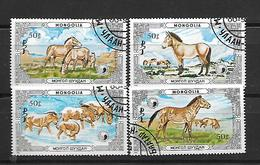Mongolia 1986 Protected Animals - Wild Horses    Used - Mongolie