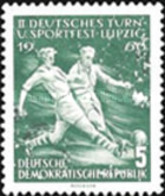 USED STAMPS OF DDR - Gymnastics And Sports Festival In Leipzig-1956 - Oblitérés